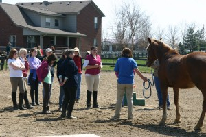 Owner Mary DeLima instructs a class